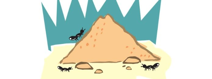 Animation of ants and ant hill